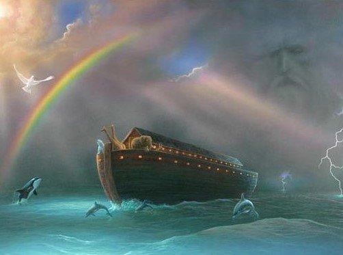 arca diluvio arcobaleno
