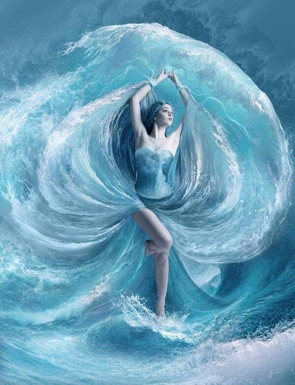 donna acqua